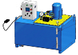 Насосная станция для приемо-сдаточных испытаний РГЦ, ном. давление 1/2 ст. 10/70 МПа, подача 12/1,7 л/мин, бак 400 л
