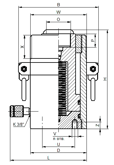 схема домкрата гидравлического