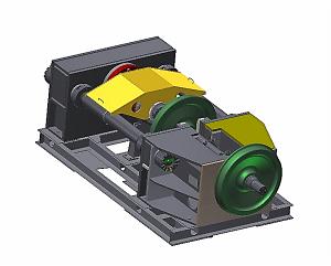 Стенд для распрессовки колес с осей колесных пар СКР-630
