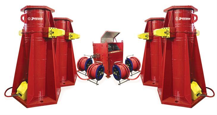 Комплекс гидравлический для подъема поворотной платформы экскаватора КГПЭ4-100