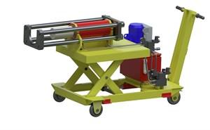 Установка для демонтажа внутренних подшипниковых колец с шейки оси колесной пары, УДВКП-1