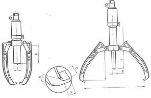 Съемники гидравлические со свободными захватами, исполнение «ползун»