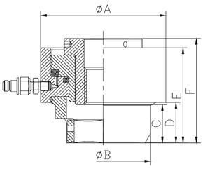 Схема гидравлического шпильконатяжителя (тензорного домкрата)