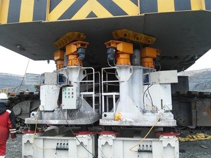 Комплекс гидравлический для подъёма поворотной платформы экскаваторов КГПЭ4-160