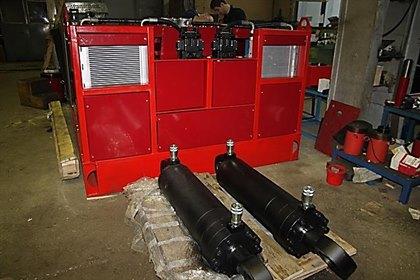 Станция насосная привода установки гидравлической для резки крупногабаритных шин