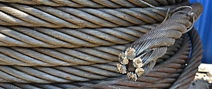 Станок для перемотки, измерения и последующей резки стального каната