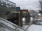 Общий вид после подъемки моста