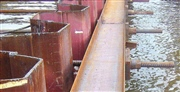 Крепление причальной стенки напрягаемой арматурой винтового профиля