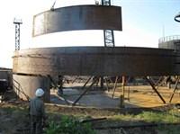 Полистовой монтаж вертикального стального резервуара