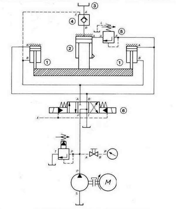 Гидравлическая система пресса с клапаном наполнения и цилиндром ускоренного хода
